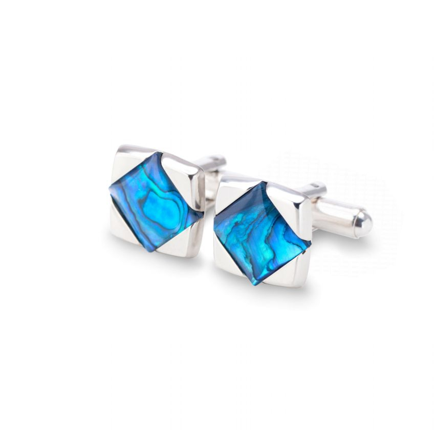 Blue cufflinks | Sterling silver | Paua Shell | ZD.25