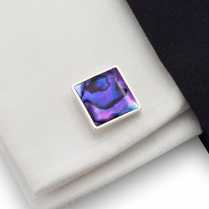 Purple cufflinks | Sterling silver | Paua Shell | ZD.26