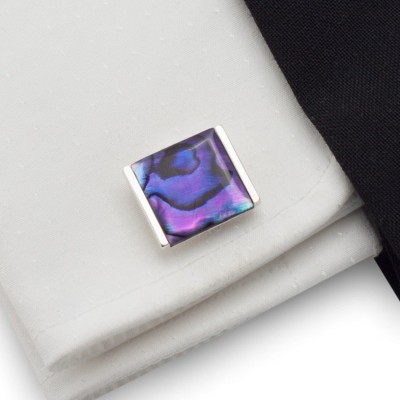 Purple cufflinks | Sterling silver | Paua Shell | ZD.27
