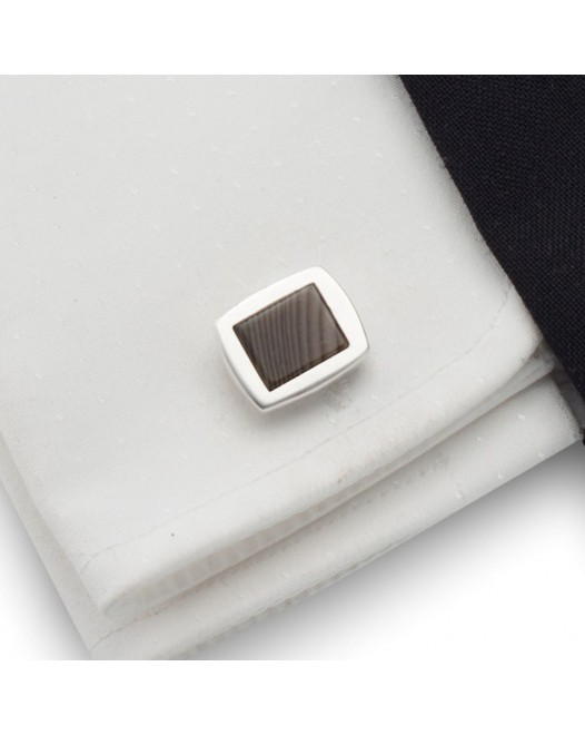 Striped Flint Cufflinks | Sterling sillver | ZD.21