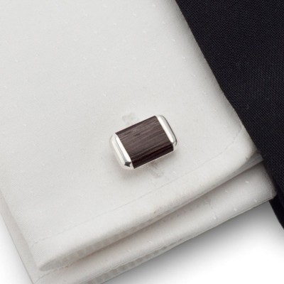 Wood Cufflinks | Sterling silver | Wenge wood | ZD.41