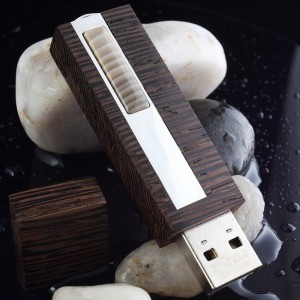 Sterling silver Flash drive | VIP Flint 16~128GB USB 3.0 | striped flint | Three types of wood