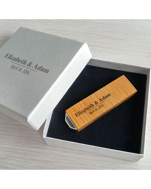 Wedding usb | Bamboo 16GB for the price of 8GB USB 3.0 | With engraving on flash drive & packaging