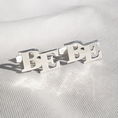 Alphabet Cufflinks   Two Initial   Sterling silver   Available in 6 fonts   ZD.302