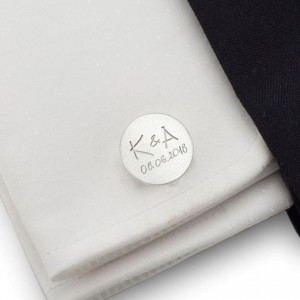 Handwriting Cufflinks | With your handwriting / dedication | Sterling sillver | ZD.151