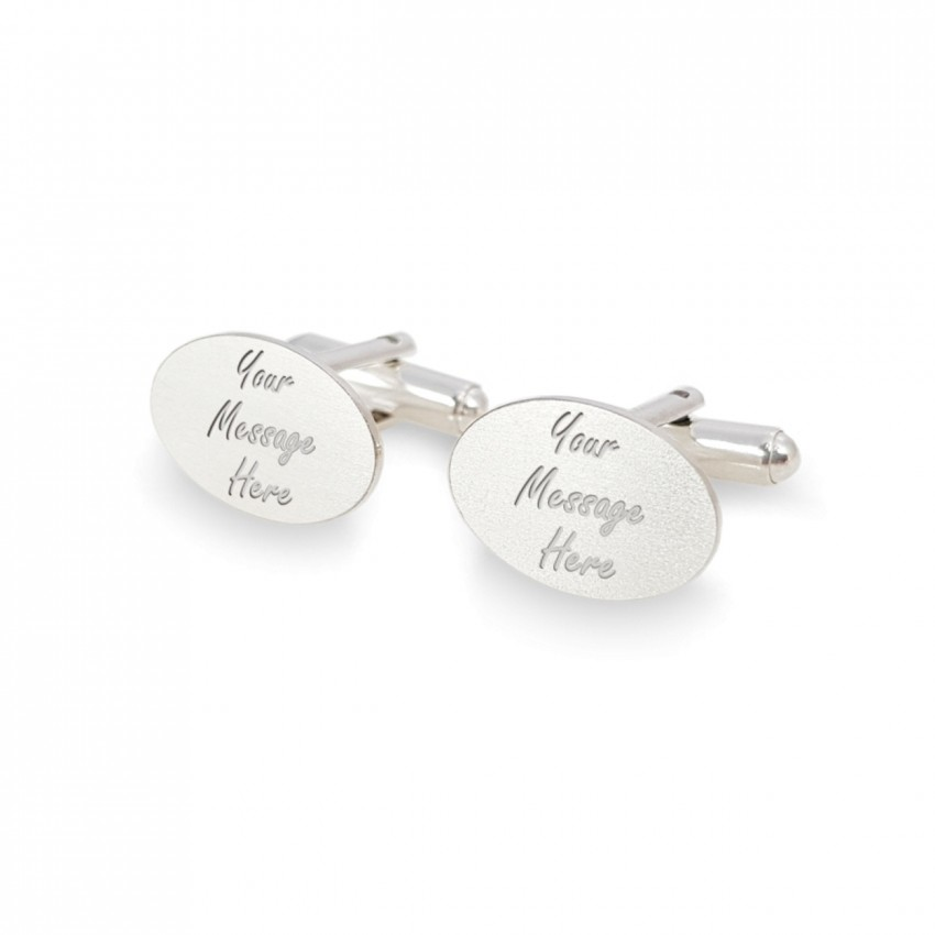Personalized cufflinks | With Your dedication | Sterling silver | Available in 10 fonts | ZD.146