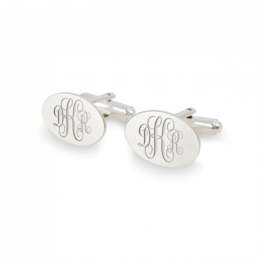925 Silver cufflinks with monogram | Sterling sillver | ZD.145