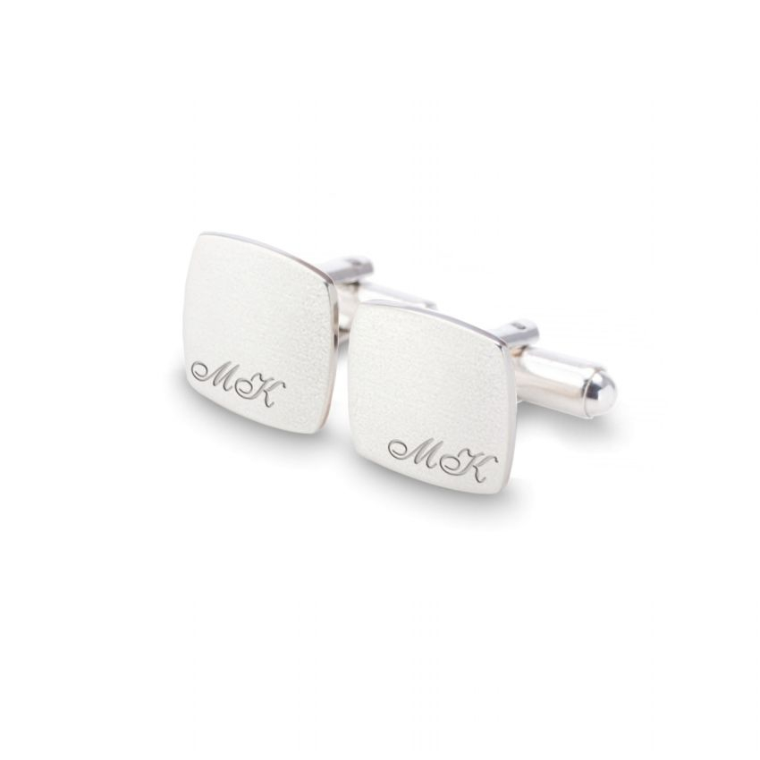 Sterling silver initials cufflinks | Sterling sillver | Available in 10 fonts | ZD.97