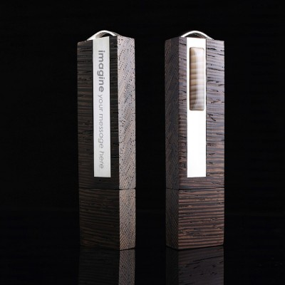 Sterling silver Flash drive | VIP Flint 128GB USB 3.0 | striped flint | Three types of wood